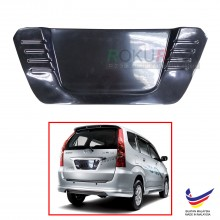 Toyota Avanza F600 (1st Gen) 2003-2011 Custom Fit Rear Bonnet OEM ABS Acrylic Plastic Decorative Number Plate Holder Black