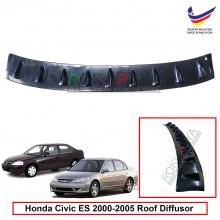 Honda Civic ES (7th Gen) 2000-2005 Vortex Generator Shark Fin Aerodynamic Rear Top Roof Diffuser Diffusor