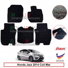 Honda Jazz (3rd Gen) 2013 12mm Custom Fit Pre Cut PVC Coil Floor Mat Anti Slip Carpet Nail Spike (Black) (Kawata Made in Malaysia)