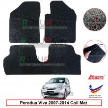 Perodua Viva 12mm Custom Fit Pre Cut PVC Coil Floor Mat Anti Slip Carpet Nail Spike (Black) (Kawata Made in Malaysia)