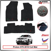 Proton X70 SUV 2018 12mm Custom Fit Pre Cut PVC Coil Floor Mat Anti Slip Carpet Nail Spike (Black) (Kawata Made in Malaysia)