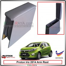 Proton Iriz 2014 4' Plywood PVC Armrest Center Console Box (Grey)