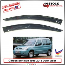 Citroen Berlingo (1st Gen) 1996-2013 AG Door Visor Air Press Wind Deflector (Big 12cm Width)