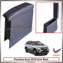 Perodua Aruz 2019 4' Plywood PVC Armrest Center Console Box (Sponge+Redline)