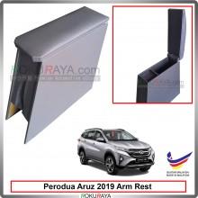 Perodua Aruz 2019 4' Plywood PVC Armrest Center Console Box (Grey)