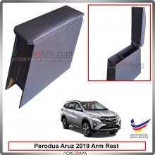 Perodua Aruz 2019 4' Plywood PVC Armrest Center Console Box (Black)