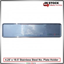 Stainless Steel Chrome Number Plate Holder Licence Plate Frame (11cm x 50cm)
