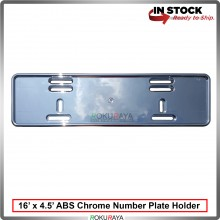 Plastic ABS Chrome Number Plate Holder Licence Plate Frame (16 x 4.5inch)