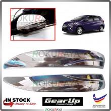 Perodua Myvi (3rd Gen) 2018 Gear Up Car Side Door Mirror Cover Moulding Garnish (Chrome)