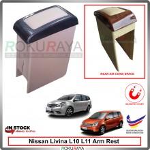 Nissan Livina L10 L11 4' Plywood PVC Armrest Center Console Box Magnetic Biege (Carbon)