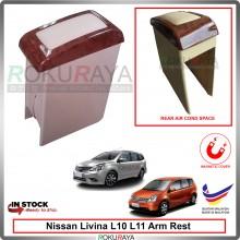Nissan Livina L10 L11 4' Plywood PVC Armrest Center Console Box Magnetic Biege (Wood)