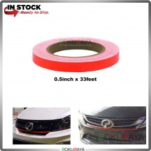 (12mm x 10meter) Red Lining Reflective Myvi GT Vinyl Wrap Film Car Sticker Decal Sheet Bubble Free