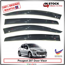 Peugeot 207 AG Door Visor Air Press Wind Deflector (Big 12cm Width)
