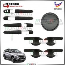 Perodua Aruz 2019 (Door Inner + Outer + Fuel Cap) Trim Cover ABS Plastic (Matt Black)