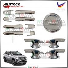 Perodua Aruz 2019 (Door Inner + Outer + Fuel Cap) Trim Cover ABS Plastic (Chrome)