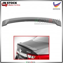 Proton Saga VVT (3rd Gen) 2016 ABS Plastic OEM Rear Bonnet Trunk Boot Lip Spoiler (Sterling Silver)