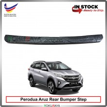 Perodua Aruz Custom Fit Original ABS Car Rear Bumper Step Scratch Guard Garnish Protector