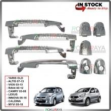 Toyota Vios Altis Camry Perodua Alza Myvi Door Handle Cover Garnish Trim ABS Plastic (CHROME OUTER)