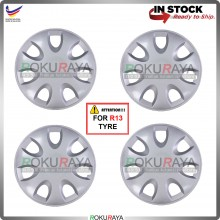 4in1 Universal R13'' Inch Car Wheel Cover Tyre Center Hub Cap Steel Rim (Saga BLM FLX Design)