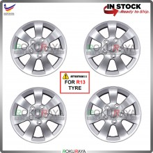 4in1 Universal R13'' Inch Car Wheel Cover Tyre Center Hub Cap Steel Rim (Waja Design)