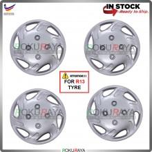 4in1 Universal R13'' Inch Car Wheel Cover Tyre Center Hub Cap Steel Rim (Wira New Design)