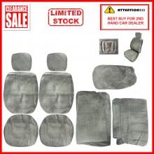 Alcantara Leather Fabric Sponge Cotton Universal Car Seat Cushion Covers (Honda) Grey