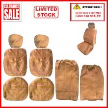 Alcantara Leather Fabric Sponge Cotton Universal Car Seat Cushion Covers (Biege)