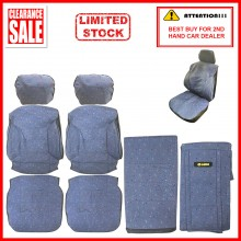 Fabric Sponge Cotton Universal Car Seat Cushion Covers (Comi) Light Blue