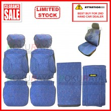 Fabric Sponge Cotton Universal Car Seat Cushion Covers (Comi) Dark Blue