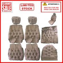 Fabric Sponge Cotton Universal Car Seat Cushion Covers (Comi) Studded Sofa Biege