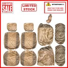 Alcantara Leather Fabric Sponge Cotton Universal Car Seat Cushion Covers (Gold)