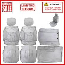 Fabric Sponge Cotton Universal Car Seat Cushion Covers (Comi) White