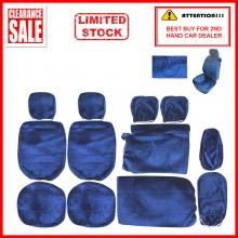 Alcantara Leather Fabric Sponge Cotton Universal Car Seat Cushion Covers (Mercedes) Blue