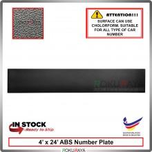 ABS Car Number Plate Holder Licence Plate Frame Black (10cm x 60cm)