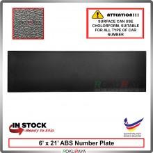 ABS Car Number Plate Holder Licence Plate Frame Black (16cm x 53cm)
