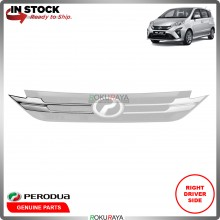 Perodua Alza 2018 Front Bumper Top Grill Grille Sarong Chrome Garnish Moulding (RIGHT)