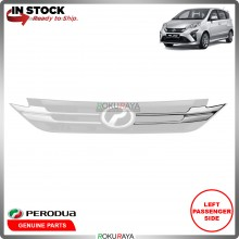 Perodua Alza 2018 Front Bumper Top Grill Grille Sarong Chrome Garnish Moulding (LEFT)