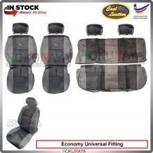 Economy Universal Proton Perodua Wira Saga Iswara Cool Leather Coolmax Custom Fitting Cushion Cover Car Seat