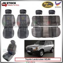 Toyota Landcruiser HZJ80 J80 Series Cool Leather Coolmax Custom Fitting Cushion Cover Car Seat