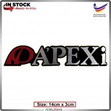 APEXI (14cm x 3cm) Automobile Car Rear Back Emblem Logo Chrome Badge