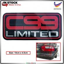 C99 Limited 1.8EXI DOHC Automobile Car Rear Back Emblem Logo Chrome Badge Car Accessories Parts