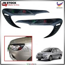 Proton Saga VVT (3rd Gen) Custom Fit ABS Plastic Car Head Lamp  Eye Lid Brow Cover