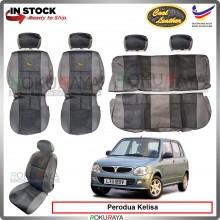 Perodua Kelisa Cool Leather Coolmax Custom Fitting Cushion Cover Car Seat Accessories BLACK