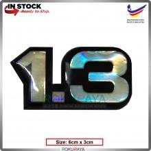 1.3 (6cm x 3cm) Rainbow Epoxy Automobile Car Rear Back Emblem Logo Chrome Badge