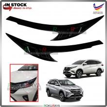 Perodua Toyota Aruz Rush Custom Fit ABS Plastic Car Head Lamp  Eye Lid Brow Cover