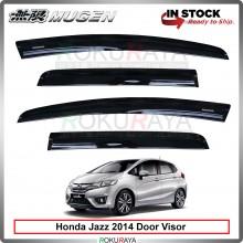 Honda Fit Jazz GK (3rd Gen) 2015 Mugen Curve Door Visor Air Press Wind Deflector (8cm Width)