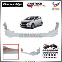 Perodua Axia 2017-2019 Bodykit Original Gear Up ABS Plastic Clips Rubber Lining FRONT SKIRT