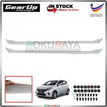 Perodua Axia Bodykit Original Gear Up ABS Plastic Clips Rubber Lining SIDE SKIRT PAIR