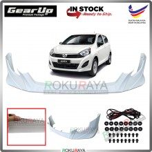 Perodua Axia G Spec 2014-2017 Bodykit Original Gear Up ABS Plastic Clips Rubber Lining FRONT SKIRT