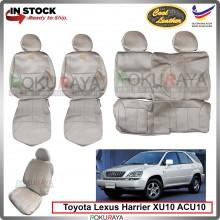 Toyota Harrier XU10 ACU10 Cool Leather Coolmax Custom Fitting Cushion Cover Car Seat (BEIGE)